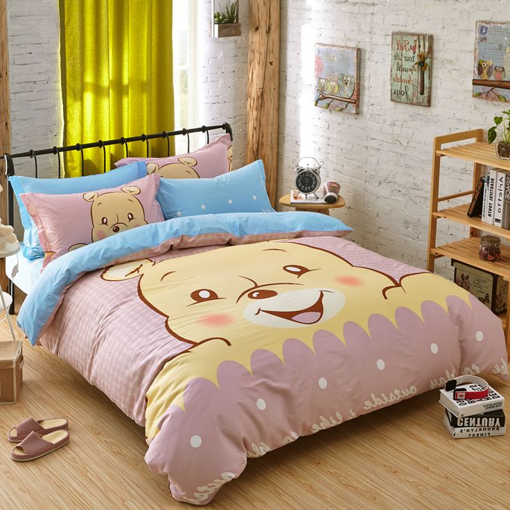 High quality bedding sets little bear bed sheet set duvet for Bed sets with mattress included