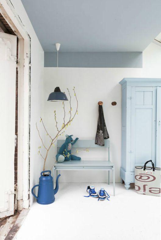 plafond bleu Vtwonen via Nat et nature