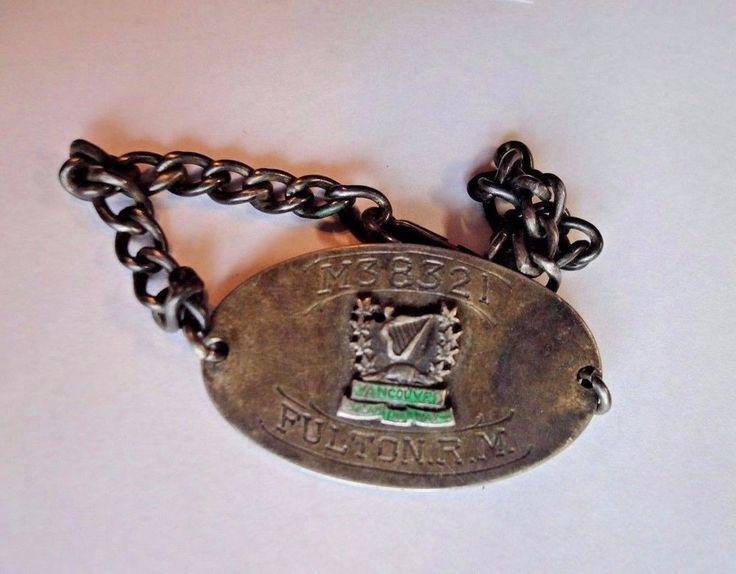 W.W.1 Sterling Silver Irish Fusiliers I.D. Bracelet to M38321 Fulton R.M.