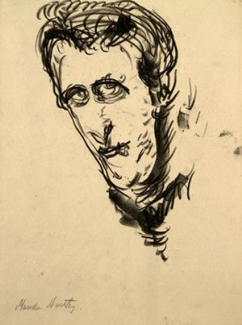 Marsden Hartley - Self-portrait 1, drawing, 1908