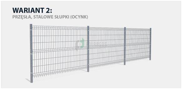 Panel ogrodzeniowy Sparta 75, ocynk