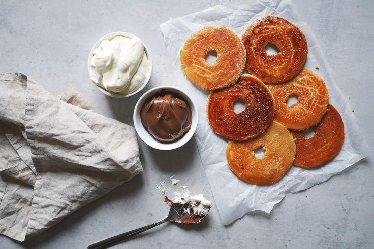 Donutchips med Nutella och grädde