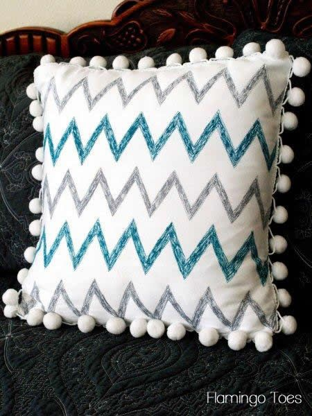 Sketchy Chevron Pillow