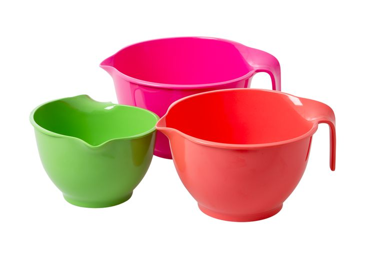 melamine mixing bowls in assorted colours set of 3