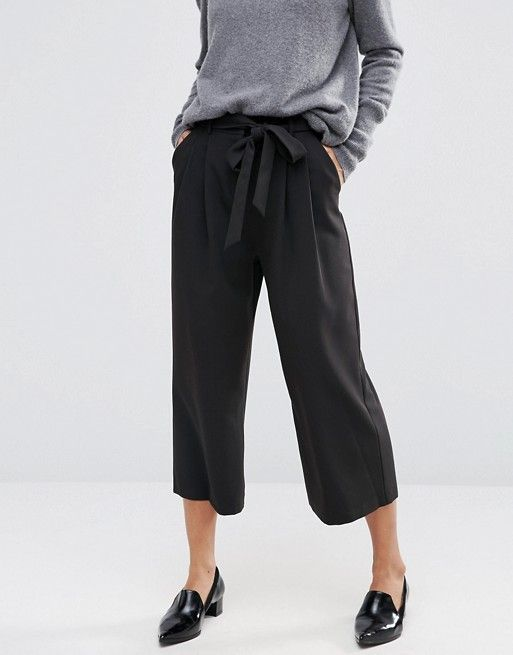 Tailored Culotte with Tie Waist