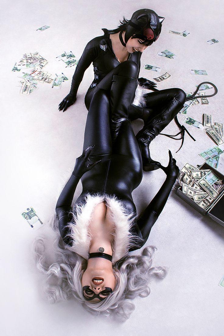 Black Cat vs Catwoman cosplay 3 by TinOmenOgre