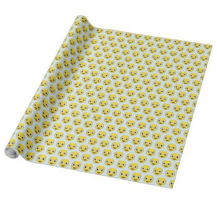 Super Happy Face Wrapping Paper - craft supplies diy custom design supply special
