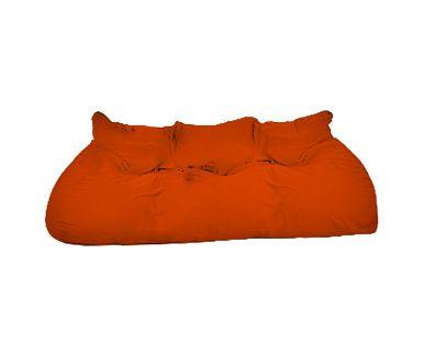 Divano letto in cotone 0 gs arancione, 254x90x90 cm