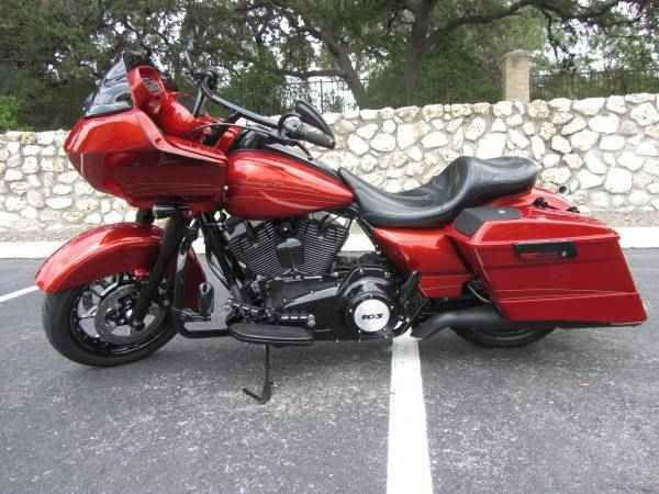 Used 2013 Harley-Davidson ROAD GLIDE CUSTOM Motorcycles For Sale in Texas,TX. I will accept any REASONABLE offer! Please don't waste our time by lowballing me; I'm sensitive, and you may hurt my feelings! My Candy Orange 2013 FLTRX Road Glide Custom was purchased new Nov '13, and is in excellent condition(Le Pera seat not included). All modifications were completed by the Dealer; I'm not a fan of chrome, so I had ever possible piece powder coated or replaced. The accessories, powder coating…
