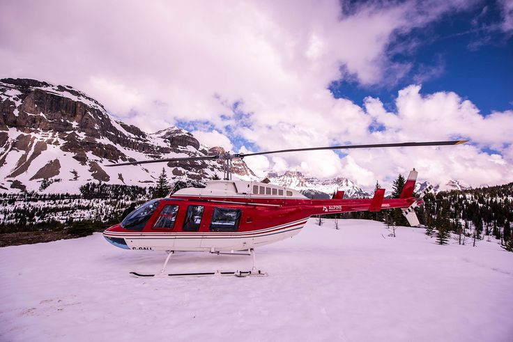 Alpine #Helicopters, parked on Marble Pass in #Kananaskis Country, #Alberta.