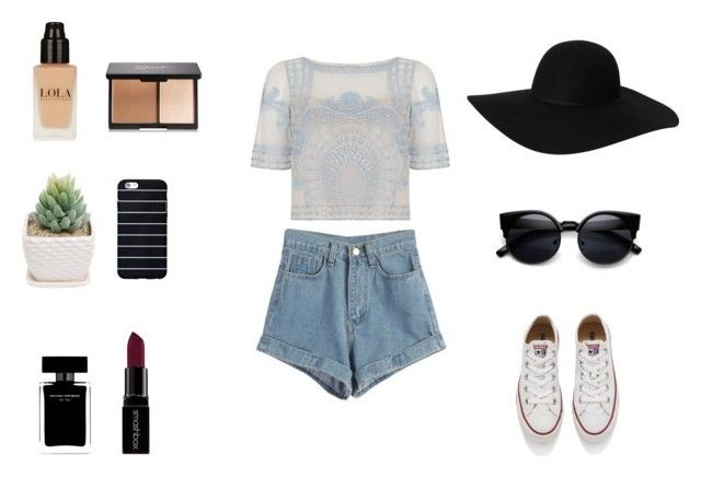 """""""happy Valentine's day! ♥♥♥"""" by dasha-efimovich on Polyvore featuring мода, Temperley London, WithChic, Converse, Monki, Narciso Rodriguez, Smashbox, women's clothing, women и female"""