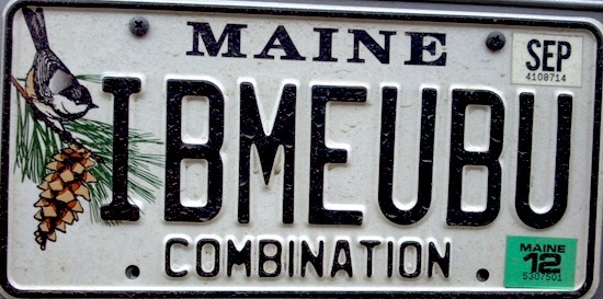 The Maine Plate | Maine vanity license plates and their meanings