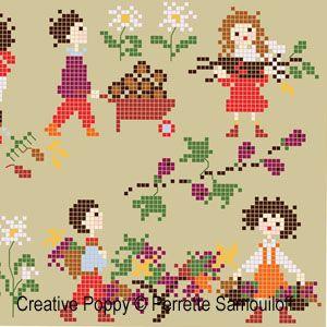 Perrette Samouiloff - Happy childhood collection, Autumn L (cross stitch)
