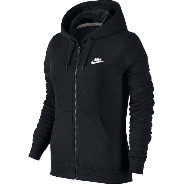 Women's Nike Full-Zip Fleece Hoodie ($54) ❤ liked on Polyvore featuring tops, hoodies, grey, gray hooded sweatshirt, nike hoodie, grey hoodies, grey hooded sweatshirt and full-zip hooded sweatshirt