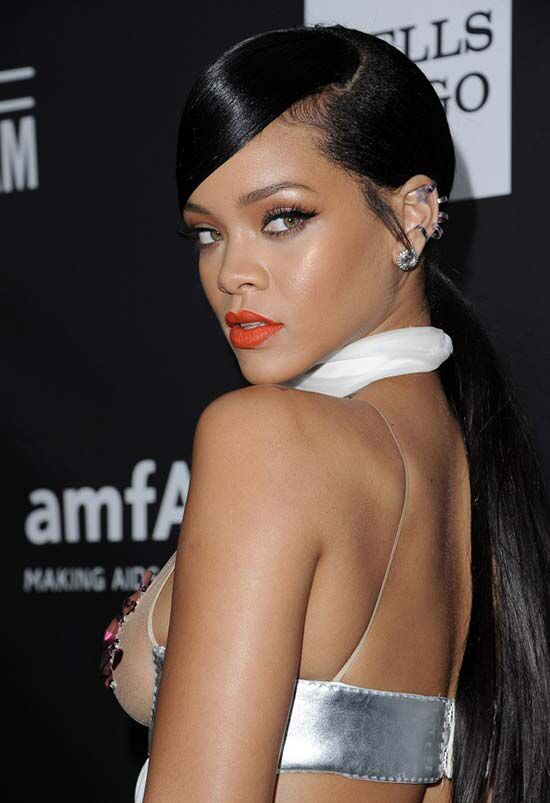 Slick Back Low Ponytail Black Hair Rihanna S Hairstyle