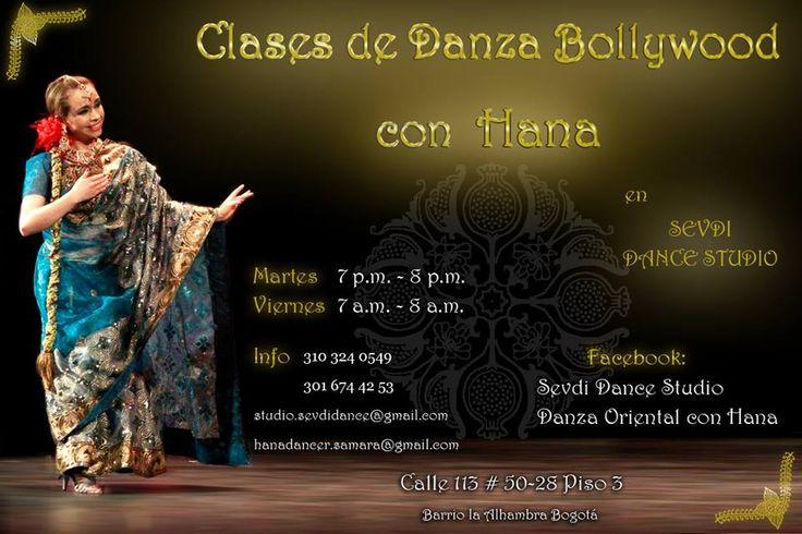Clases de Bollywood con Hana... Martes 7pm.... Promociones por mes de san valentin ... INFO: (57) 3103240549 - (57-1) 5334115 E-MAIL: studio.sevdidance@gmail.com Bogota - Colombia