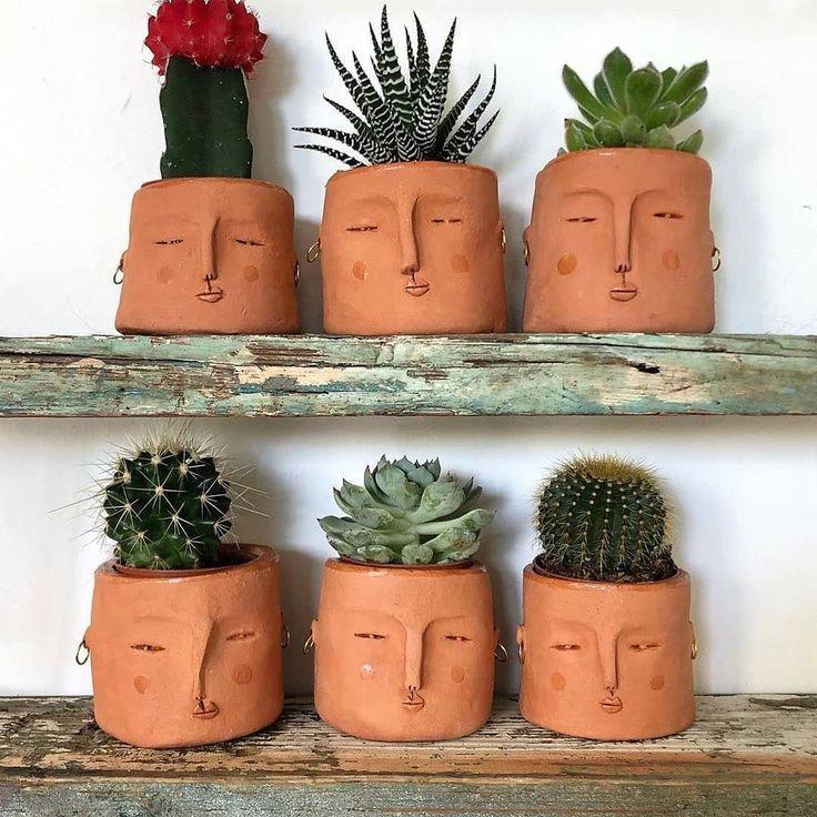 Wie süß sind diese Gesicht Pflanzer! 😍 Markie…