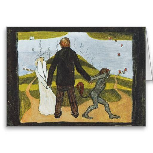 Hugo Simberg - Tienhaarassa, 1896