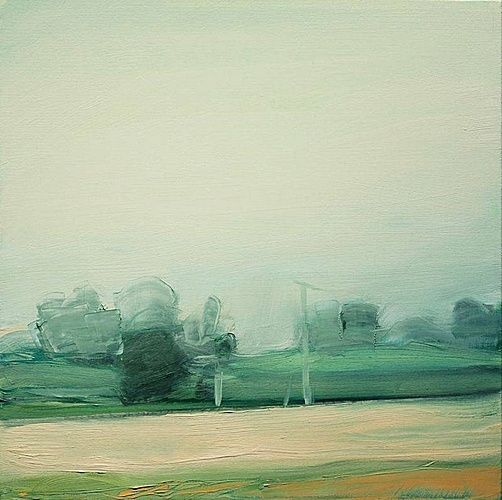 Sara MacCulloch, Summer Fields From Car  2008, Oil on canvas
