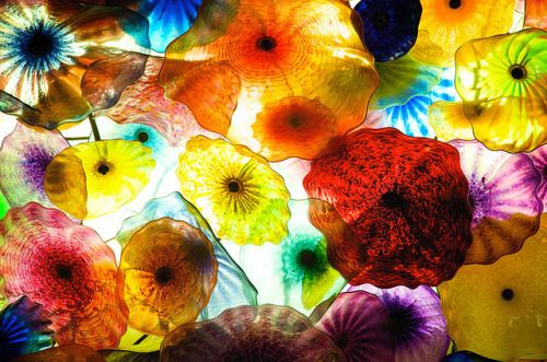 Dale Chihuly's glass installation at Bellagio, Las Vegas (by Tulna)