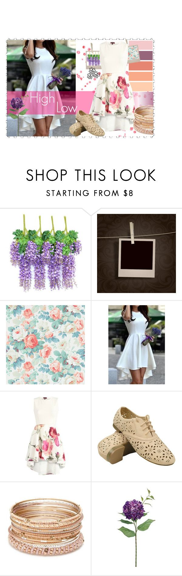 """""""The Wedding Guest Edit- High Low Dress"""" by beatzbeau ❤ liked on Polyvore featuring SANDERSON, Red Camel, WeddingGuest, floral and high"""