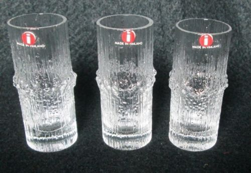 Set 3 Cordial Shot Glasses Niva Pattern by Iittala Designed by Tapio Wirkkala | eBay $13 ea. 1/14