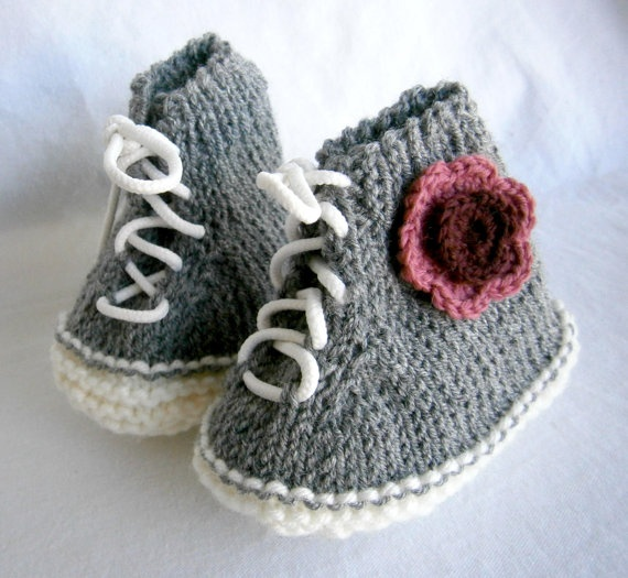 Baby Booties   Hitop Sneakers PLEASE STATE SIZE by PrettyBagsByMia, $14.90