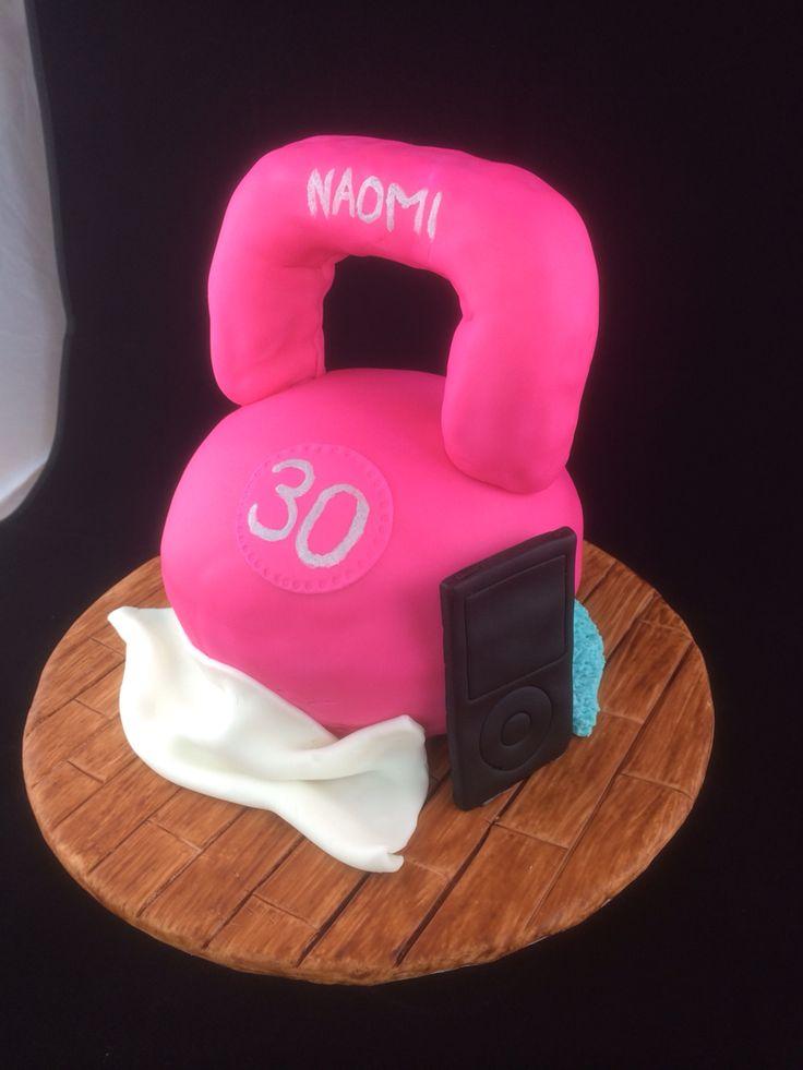 Kettle bell birthday cake
