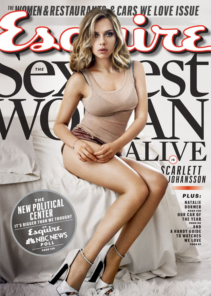 Scarlett Johansson has been named Esquire's Sexiest Woman Alive — again! (Vincent Peters/Esquire)
