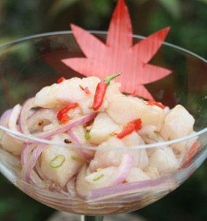 Ceviche de Tilápia - Culinária Japonesa - NippoBrasil