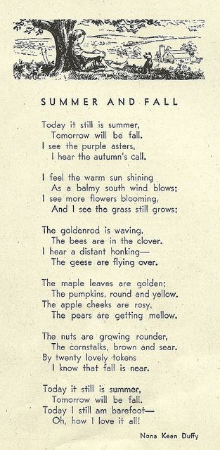 summer and fall poem.