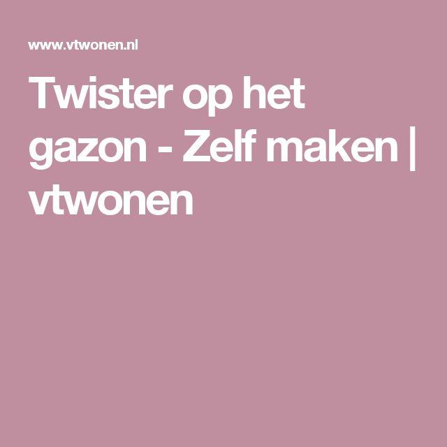 Twister op het gazon - Zelf maken   vtwonen