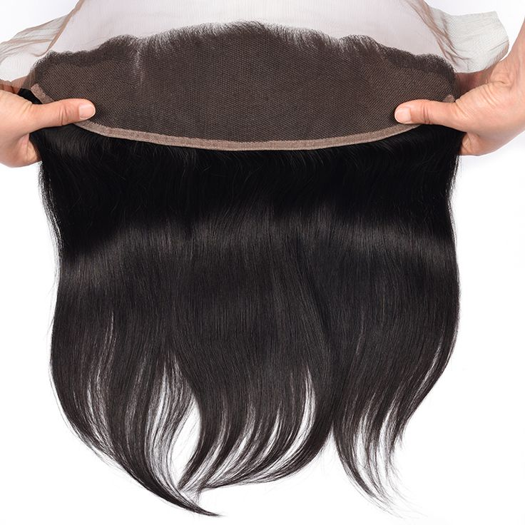 DHL Free 8A Brazilian Straight Hair Ear to Ear Lace Frontal Closure With Baby Hair Bleached Knots Human Hair 13x4 Lace Frontal