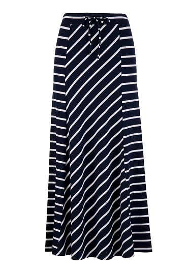 Stripe Knit Maxi Skirt - I want to sew this.