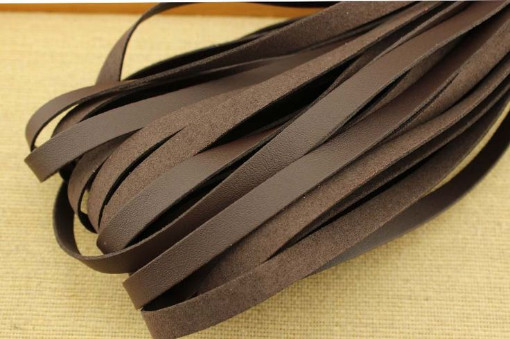 CYZ-P132 Brown suede cord for jewelry making,10mm*1.5mm suede cord wholesale,suede cord braiding, suede cord crafts, 10 meters by DIYArtMall on Etsy