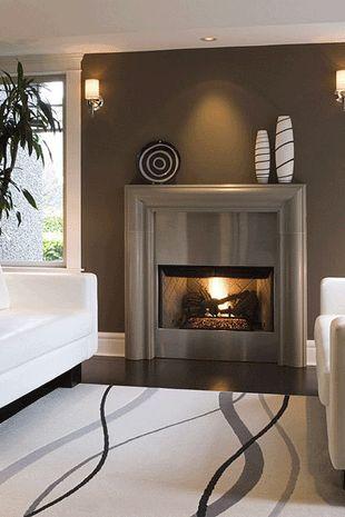 Best 25 contemporary fireplace mantels ideas on pinterest - Modern fire surround ideas ...