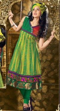 Scintillating Aloe Vera Green & Jade Green Salwar Kameez