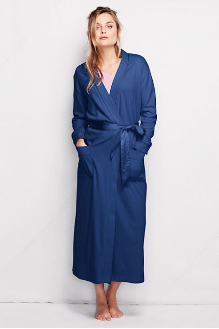 Women's Long Sleeve Cotton Sleep-T Robe from Lands' End | My future mother-in-law let me borrow something similar to this when I was staying at their house for a week, and it was AMAZING.  I have been dying for one ever since!