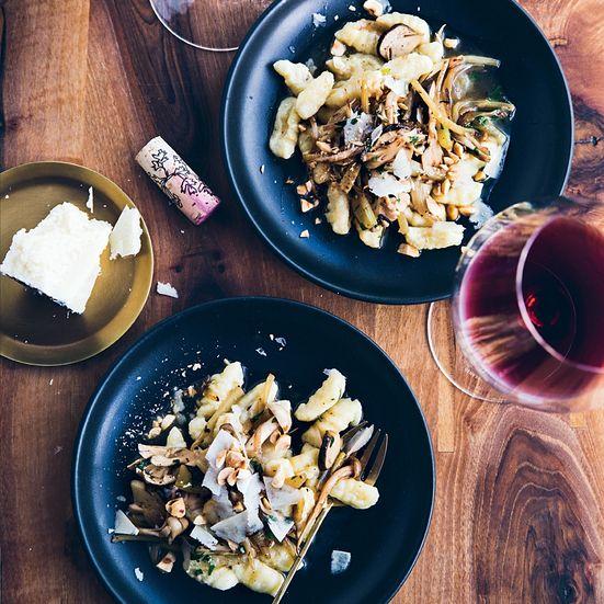 Potato Gnocchi with Wild Mushroom Ragù and Hazelnuts Recipe | Food & Wine