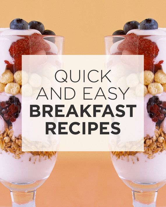 Eating breakfast can help kids stay alert and do better in class. What better motivation to whip up a healthy and yummy meal in minutes? Our recipes won't slow you or your kids down during morning rush hour.If you let them, your kids would eat ice cream sundaes for breakfast. Offer them the next best thing: sundaes made with yogurt, cereal, granola, and fresh fruit layered in tall sundae glasses and eaten with long spoons. For special occasions, such as the morning after the big slumber…