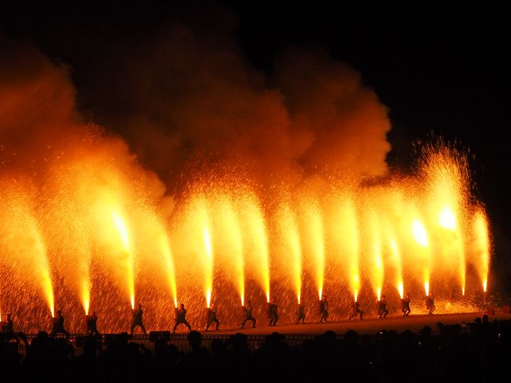 Pipe style firework festival, Toyohashi in Aichi Pref