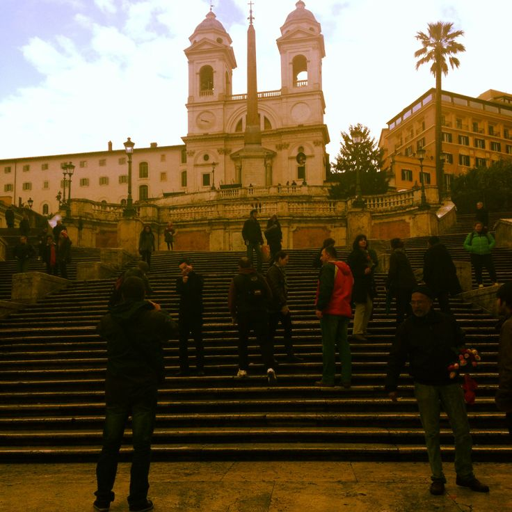 The #Spanish #steps! Huge #tourist area in #Roma that contains tons of great #shopping...climb the steps for an amazing view!