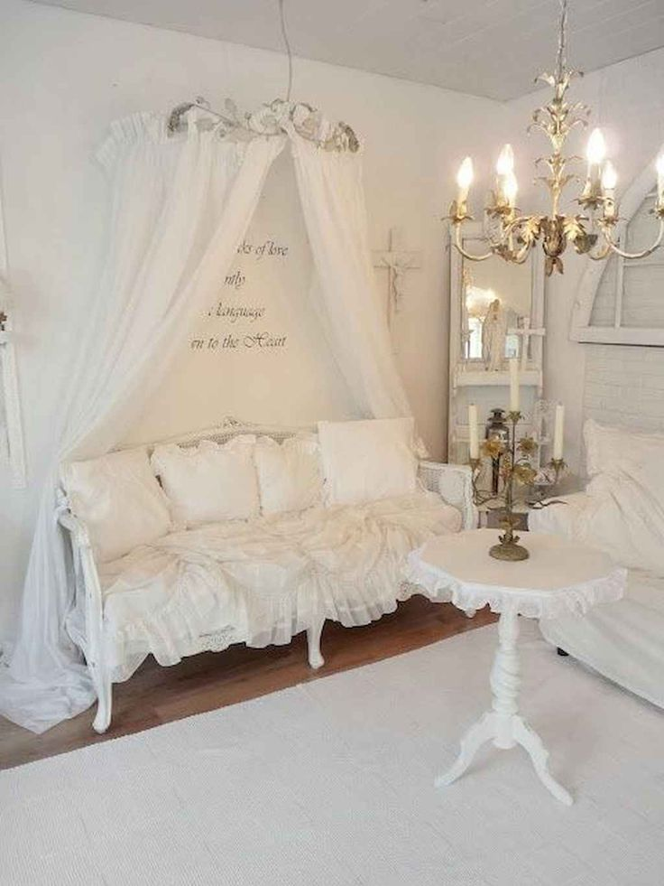 85 Romantic Shabby Chic Living Room Decor Ideas