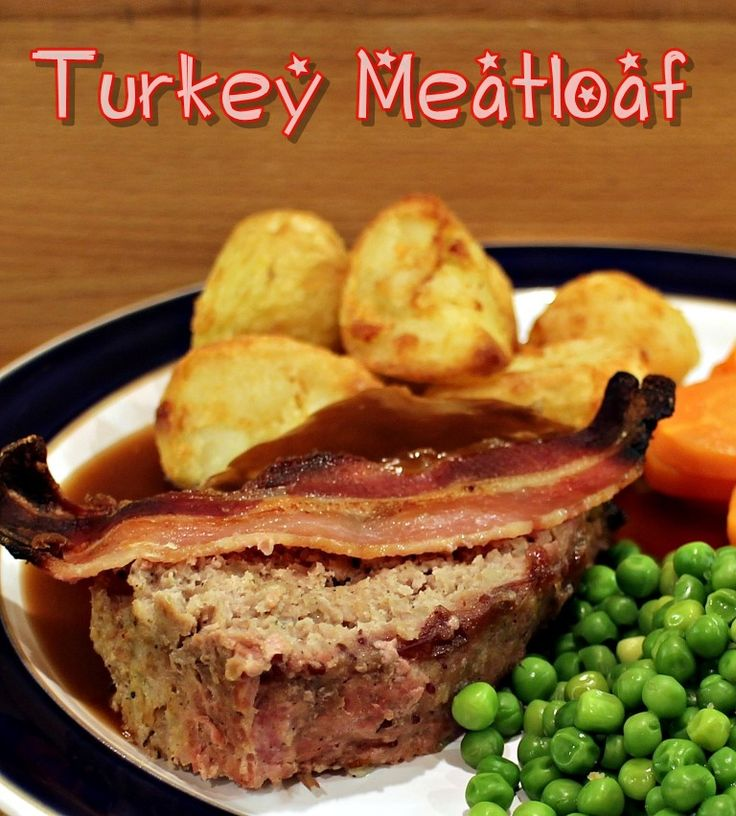 All the flavours of a Christmas roast turkey dinner & trimmings in a meatloaf - quick, easy & delicious served with ActiFry roast potatoes.