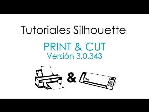▶ Tutorial Imprimir y Cortar con Silhouette Studio V3 (Español) - YouTube