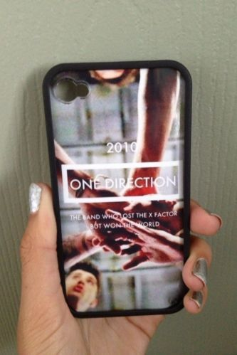 One Direction iPhone Case (4, 4s) THIS IS THE BEST CASE EVER I NEED TO GET THIS