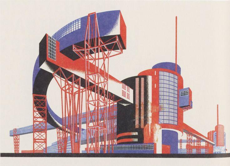 Yakov Chernikhov (1889-1951) / Sus libros sobre diseño arquitectónico publicados en Leningrado entre 1927 y 1933 son algunos de los textos más innovadores de su tiempo., ellos misteriosamente predicen la arquitectura de finales del siglo 20. En 2006 se anunció que algunos cientos de dibujos de Chernikhov, habían desaparecido de los Archivos del Estado de Rusia, algunos sido recuperados en Rusia y en el extranjero.