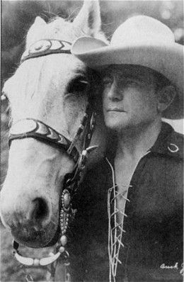 Buck Jones and horse, Silver.  - Horses of Famous Western Movie Stars and their Sidekicks