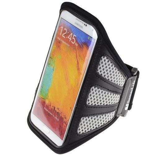SumacLife Network Running Sports Armband for Samsung Galaxy note 4 / note 3 / Note Edge / Galaxy S6 / S5 Sort / HTC One M9 (32GB / 64GB) (Gray / Black). SumacLife sports armband Compatible with Samsung Galaxy note 3 / note 2 (AT&T, T-Mobile, Sprint, Verizon). Case dimension:6.8×1×4 inch.Note :Please check your device dimension whether suit this case before purchasing. Adjustable Armband gives you the versatility of carrying your device in a variety of ways. Provides protection and…
