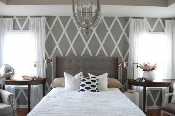 Simple wall design using painters tape                                                                                                                                                                                 More